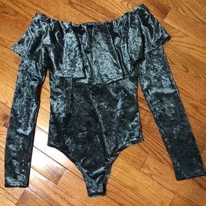 Wet Seal Other - Velvet bodysuit